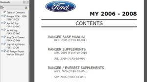 Ford Ranger Everest 2000-2005 Workshop Service Repair Manual