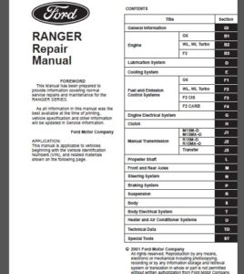 service repairs ford factory technical manual rh fordservicerepairworkshop com mazda fnr5 repair manual FNR5 Transmission Fluid Color