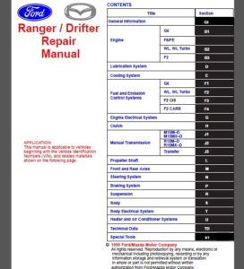 Ford Service Repairs Manuals Ford Factory Technical Manual